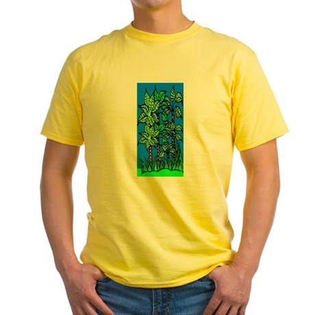 Abstract Trees Yellow T-Shirt