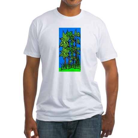 Abstract Trees Fitted T-Shirt