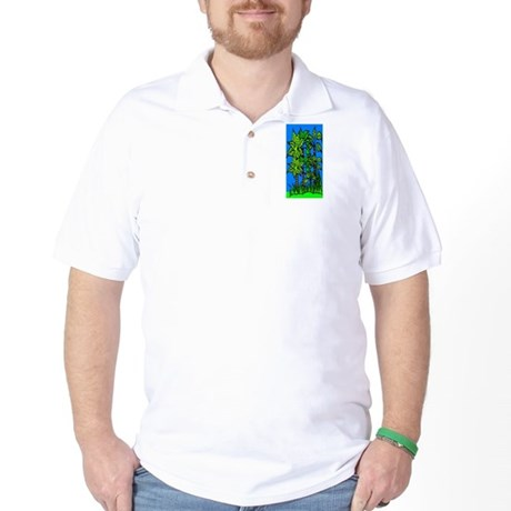 Abstract Trees Golf Shirt