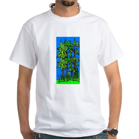 Abstract Trees White T-Shirt