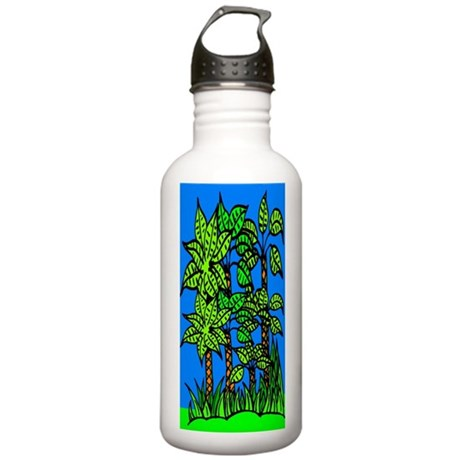 Abstract Trees Stainless Water Bottle 1.0L