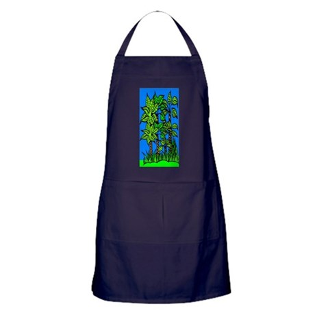 Abstract Trees Apron (dark)