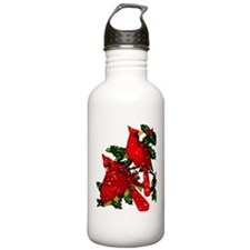 Snow Cardinals Water Bottle