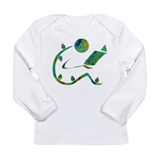 Green Reader Long Sleeve Infant T-Shirt
