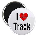 I Love Track Magnet