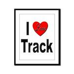 I Love Track Framed Panel Print
