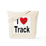 I Love Track Tote Bag