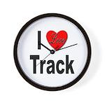I Love Track Wall Clock
