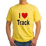 I Love Track Yellow T-Shirt