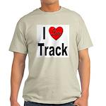 I Love Track Ash Grey T-Shirt