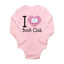 I Heart Book Club Long Sleeve Infant Bodysuit