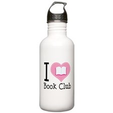 I Heart Book Club Water Bottle