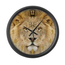 African Lion Large Wall Clock