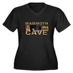 ABH Mammoth Cave Women's Plus Size V-Neck Dark T-S