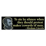 To Sin by Silence Lincoln bumper sticker