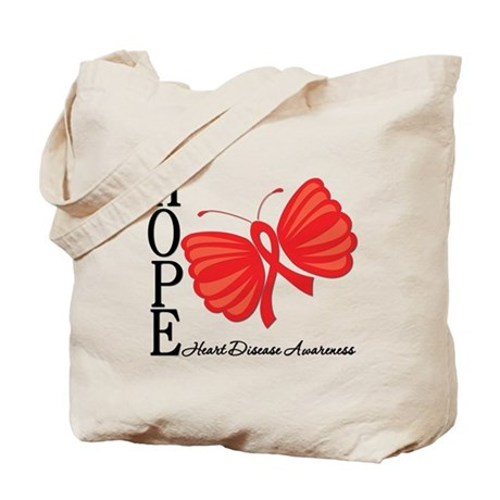Heart Disease HopeButterfly Tote Bag
