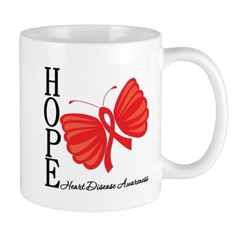 Heart Disease HopeButterfly Mug