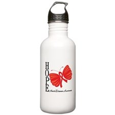 Heart Disease HopeButterfly Water Bottle