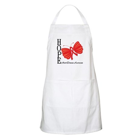 Heart Disease HopeButterfly Apron