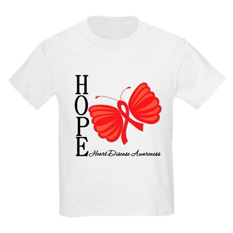 Heart Disease HopeButterfly Kids Light T-Shirt