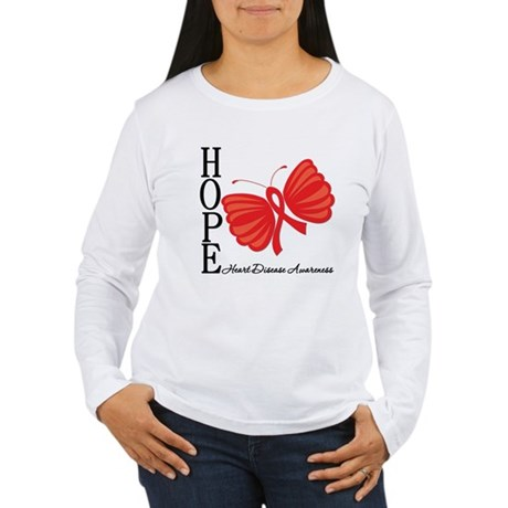 Heart Disease HopeButterfly Women's Long Sleeve T-