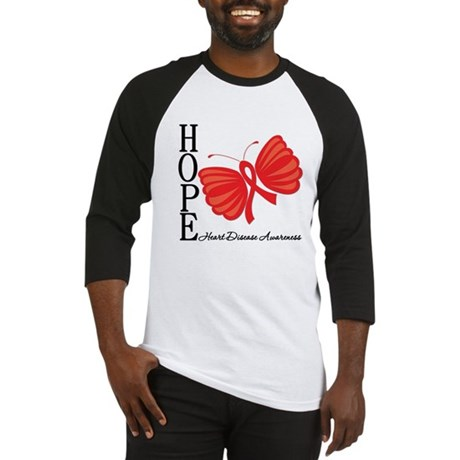 Heart Disease HopeButterfly Baseball Jersey