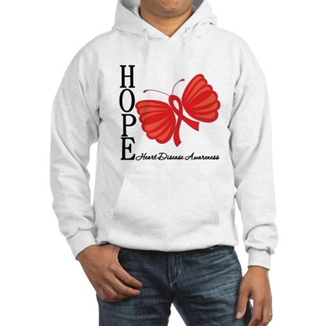 Heart Disease HopeButterfly Hooded Sweatshirt