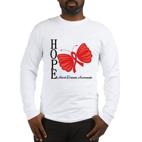 Heart Disease HopeButterfly Long Sleeve T-Shirt