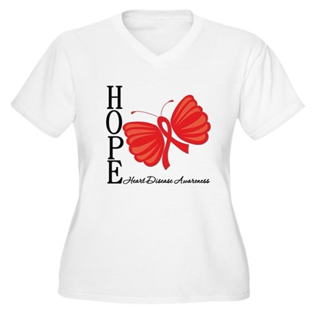 Heart Disease HopeButterfly Women's Plus Size V-Ne