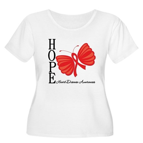 Heart Disease HopeButterfly Women's Plus Size Scoo
