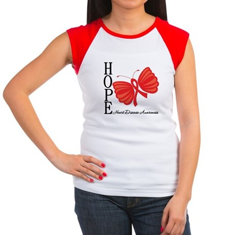 Heart Disease HopeButterfly Women's Cap Sleeve T-S