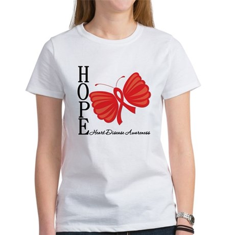 Heart Disease HopeButterfly Women's T-Shirt