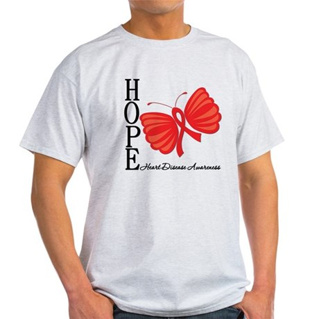 Heart Disease HopeButterfly Light T-Shirt