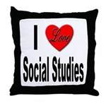 I Love Social Studies Throw Pillow