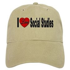 I Love Social Studies Baseball Cap