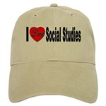 I Love Social Studies Cap