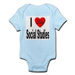 I Love Social Studies Infant Creeper
