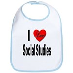 I Love Social Studies Bib