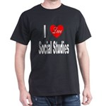 I Love Social Studies (Front) Black T-Shirt