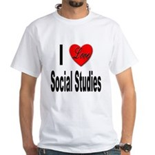 I Love Social Studies (Front) Shirt
