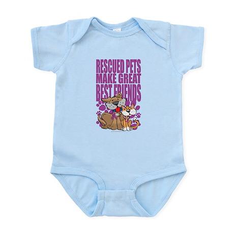 Rescued Pets Make Great Best Infant Bodysuit