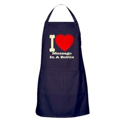 I (Heart) Message In A Bottle Apron (dark)