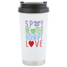 Spay Neuter Adopt Love 2 Ceramic Travel Mug