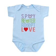 Spay Neuter Adopt Love 2 Infant Bodysuit
