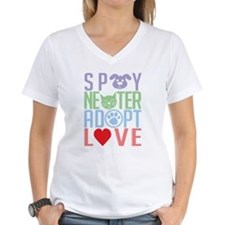 Spay Neuter Adopt Love 2 Shirt