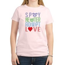 Spay Neuter Adopt Love 2 T-Shirt