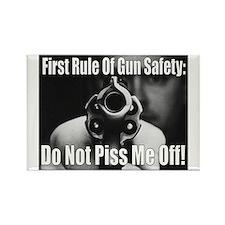 GUN SAFETY Rectangle Magnet
