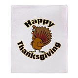 Thanksgiving Turkey Throw Blanket