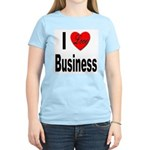I Love Business (Front) Women's Pink T-Shirt