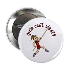 "Pole Vault - Red (Light) 2.25"" Button"